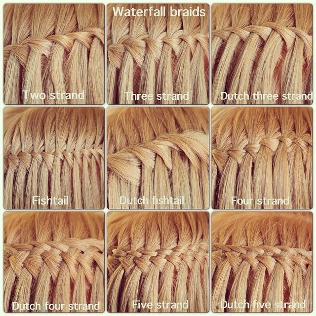 Weaving cascade on long hair hairstyle is a french waterfall a variants of the spit waterfall for bold and creative ccuart Image collections