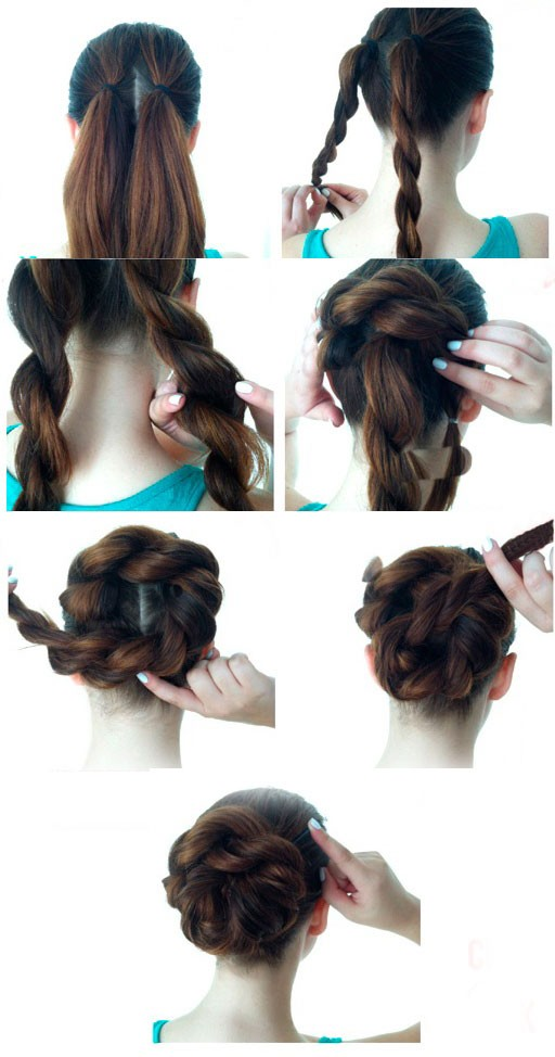 Another Simple Hairstyle For A Quick Hand Step By Instruction